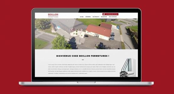 Nouveau site internet Boillon Fermetures